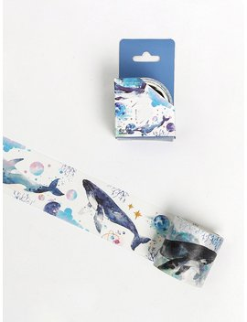 Whale Print Masking Tape by Romwe