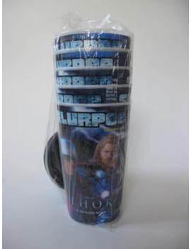 2011 Thor Movie Marvel Lenticular 3 D 7 11 Slurpee Promo Cup & Lid Set Of 5 by Ebay Seller