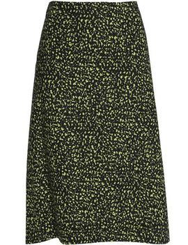 Printed Cotton Poplin Skirt by Marni