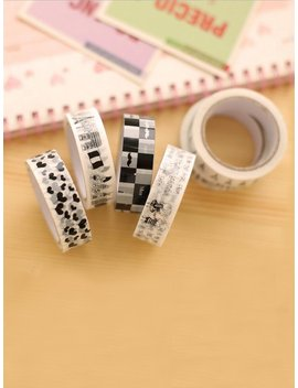 Random Cartoon Adhesive Tape 10pcs by Romwe
