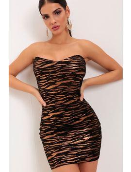 Chocolate Tiger Metallic Tiger Print Mini Dress by I Saw It First