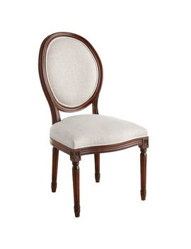 Flax Dining Chair With Tobacco Brown Wood by Eliane Collection
