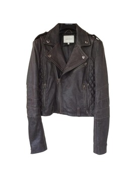 Leather Caban by Pierre Balmain