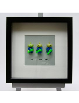 3 Toy Story Green Aliens Mini Figures Framed Picture 25 By 25 Cm by Etsy