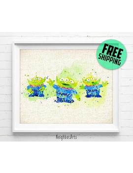 Disney Print, Toy Story Little Green Men Poster, Aliens, Toy Story Art Print Watercolor Painting, Disney Wall Art, Home Decor, Kids Gift 108 by Etsy