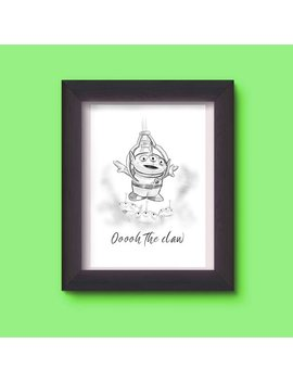 Toy Story Alien Inspired A4 Print by Etsy
