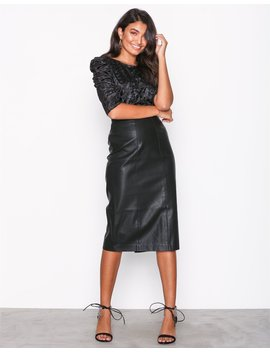Leather Look Pencil Skirt by New Look