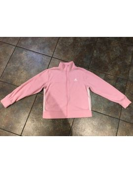Adidas Womens Fleece Jacket Size Large Pink Polyester by Ebay Seller