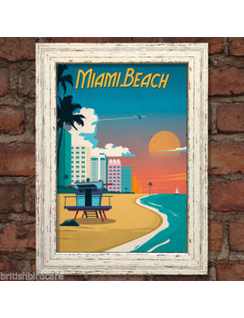 Miami Beach Vintage Retro Travel Poster Nostalgic Home Print Wall Art Decor #54 by Christmas Birthday Gifts