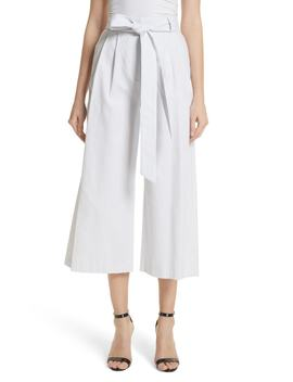 Natalie Crop Tie Waist Pants by Milly