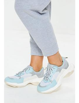 Blue Minimal Upper Chunky Trainers by Missguided