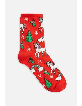 Christmas Unicorn Socks by Topshop