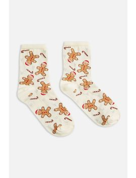 Christmas Gingerbread Socks by Topshop