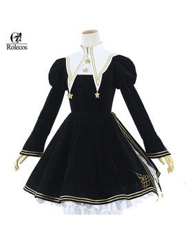 Rolecos Anime Cardcaptor Card Captor Sakura Kinomoto Sakura Cosplay Costume Gothic Lolita Dress Girls Retro Clothing Party Dress by Rolecos
