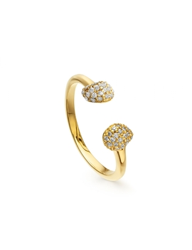 Gold Pave Double Nugget Ring by Missoma