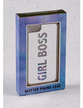 Girl Boss Glitter Phone Case (14cm X 7cm X 1cm) by Matalan