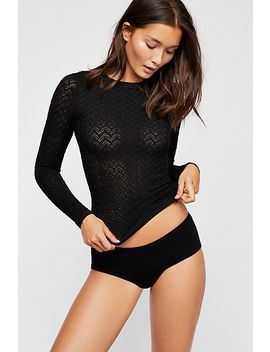 Seamless Cutout Long Sleeve Top by Free People