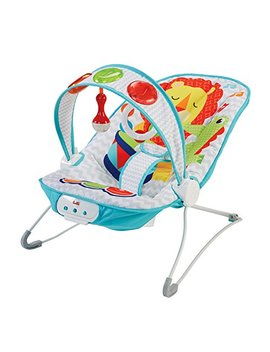Fisher Price Kick And Play Musical Bouncer, New Born Baby Bouncer And Chair With Removable Toy Bar And Calming Vibrations, Music, Lights And Sound by Fisher Price
