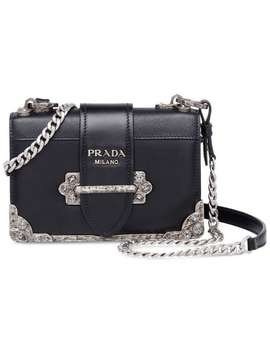 Cahier Leather Shoulder Bag by Prada