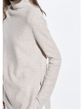 Boiled Cashmere Turtleneck Tunic by Vince
