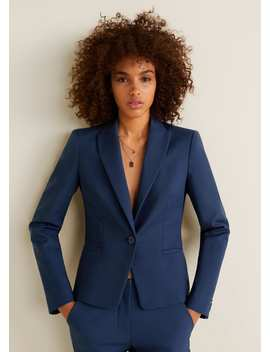 """<Font Style=""""Vertical Align: Inherit;""""><Font Style=""""Vertical Align: Inherit;"""">Structured Basic Blazer</Font></Font> by Mango"""