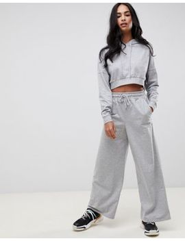 Asos Design Tracksuit Cropped Hoodie / Basic Wide Leg Jogger by Asos Design