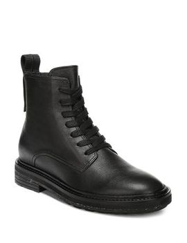Women's Kinley Weather Resistant Leather Combat Boots by Via Spiga
