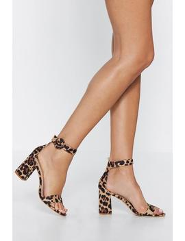Purr Fect Day Leopard Heel by Nasty Gal
