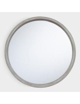 Round Rustic Gray Mirror by World Market