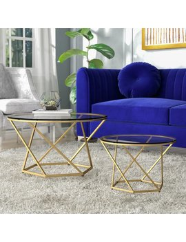 Everly Quinn Adrianna 2 Piece Coffee Table Set & Reviews by Everly Quinn