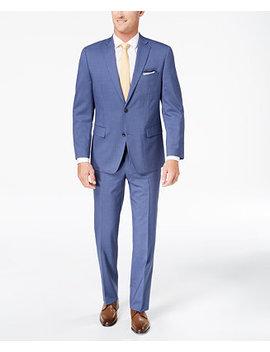 Closeout! Men's Classic Fit Light Blue Pinstripe Suit by Michael Kors