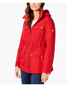 Hooded Quilted Anorak Coat by Michael Michael Kors