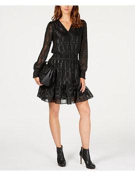 Smocked Jacquard Dress, In Regular & Petite Sizes by Michael Michael Kors