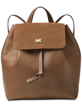 Junie Suede Flap Backpack by Michael Michael Kors