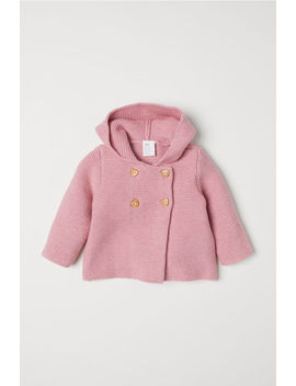 Purl Knit Hooded Cardigan by H&M