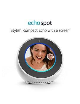 Amazon Echo Spot, Smart Speaker And Screen With Alexa   White by Amazon