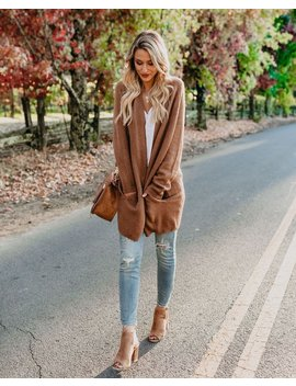 Changing Leaf Pocketed Cardigan   Camel by Vici