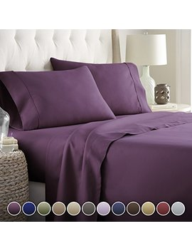 Hotel Luxury Bed Sheets Set  1800 Series Platinum Collection Deep Pocket, Wrinkle & Fade Resistant(Queen,Eggplant) by Hc Collection