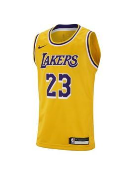 Le Bron James Los Angeles Lakers Nike Icon Edition Swingman by Nike
