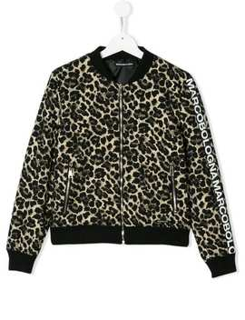 Teen Leopard Print Bomber Jacket by Marco Bologna Kids