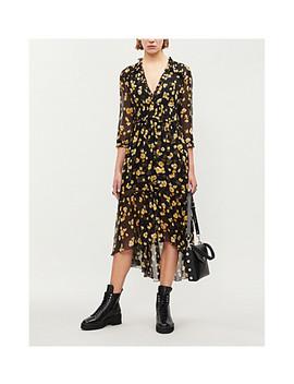 Floral Print Silk Crepe Midi Dress by The Kooples