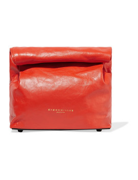 Lunchbag 20 Leather Clutch by Simon Miller
