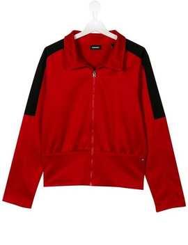 Zipped Bomber Jacket by Diesel Kids