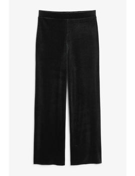 Wide Velvet Trousers by Monki