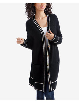Varsity Stripe Sweater Coat by Lucky Brand