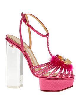 Pink Jewelled Barbie Heels by Charlotte Olympia