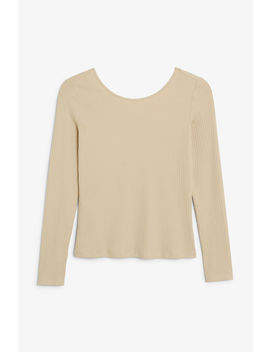 Low Back Top by Monki
