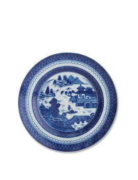 Mottahedeh Rim Soup Bowl, Blue Canton by Williams   Sonoma