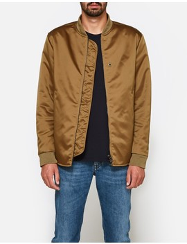 Mylon Matt Jacket In Acorn Green by Acne Studios