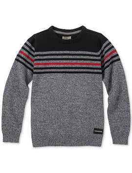Big Boys Strike Stripe Sweater by Calvin Klein